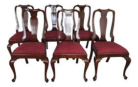 Henkel Harris Wild Black Cherry Dining Chairs - Set Of 6 | Chairish Shop Plainville Black Cherry Wooden Seat Ding Chair Set Of 2 Parawood Fniture Parfait The Simple Wood British Isles Napoleon Side Woodstock Mattress 30 Beautiful Photo Room Blackcherry Finish Rubberwood Table With 4 Terrific Decoration Using Rectangular Dark Wood Ding Chair Black Cherry Florida Ft Lauderdale Miami Dch1001fset2 Chairs By Safavieh Circle Ingrid