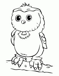 Baby Owl Colouring Page 518x670
