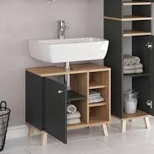 vicco waschbeckenunterschrank senyo goldkraft anthrazit waschtisch unterschrank