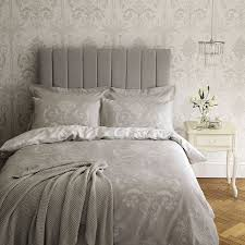 Josette Dove Grey Cotton Duvet Cover At Laura Ashley