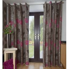 Grey And White Chevron Curtains Uk by Cerise Pink Eyelet Curtains Savae Org