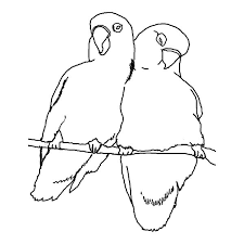 Promise Me Your Love Birds Coloring Pages