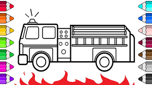 100 How To Draw A Fire Truck For Kids Coloring Pages For To YouTube