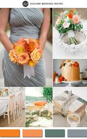 Trending Tangerine And Gray Spring Wedding Color Ideas 2015 Elegantweddinginvites