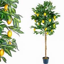 kunstpflanze dekobaum zitronenbaum zimmerpflanze groß