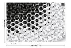 fototapeten fototapete vlies 3d schwarz weiß modern