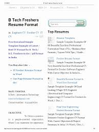 Resume Format For Engineering Freshers Pdf Template Easy Mechanical Engineers