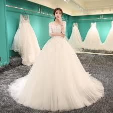 2018 New Slim Bride Fashion Korean Princess Tail Wedding Dress Good
