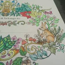Fist Page Of Enchantedforest By Johannabasford Done Colouring Adultcolouring