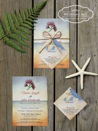 Rustic Beach Wedding Invitations With Twine And Map Gift Card Insert Weddingart