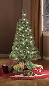 White Artificial Christmas Trees Walmart by Holiday Time Pre Lit 4 U0027 Cashmere Artificial Christmas Tree Clear