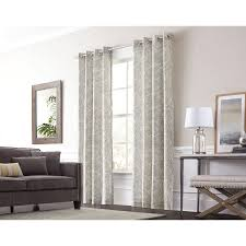 White And Gray Blackout Curtains by Shop Curtains U0026 Drapes At Lowes Com