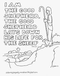 Good Shepherd Coloring Page 19 Jesus The Pages Attorney Dwi Colouring