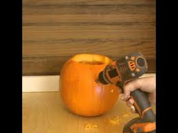 Pumpkin Carving With Drill by Zillow Homemadehack How To Carve A Pumpkin With A Drill Youtube