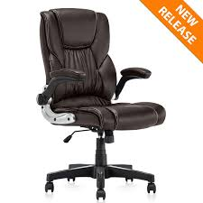 YAMASORO Ergonomic Office Chair With Flip Up Arms And Wheels Executive  Office Desk Chairs Leather Black Computer Chairs Luxury Pu Leather Executive Swivel Computer Chair Office Desk With Latch Recline Mechanism Brown Eliza Tinsley Black Belleze Highback Ergonomic Padded Arms Mocha Barton Economy Hydraulic Lift Senarai Harga Style Lifted Household Multi Heavy Duty Task Big And Tall Details About Rolling High Back Essentials Officecomputer Belleze Tilt Lumber Support Faux For Look Costway