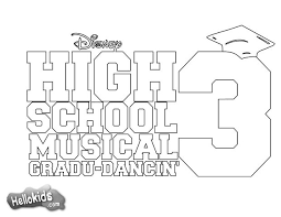 Zac Efron High School Musical Poster Coloring Page