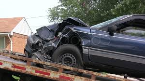100 Tow Truck Accident Car In Accident Put On Stock Footage 481508