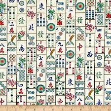 Amazon Timeless Treasures Mahjong Tiles Mahjong Fabric By The