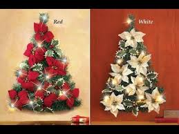 Review Led Lighted Poinsettia Christmas Tree Wall Decoration Red