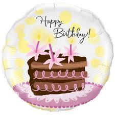 "18"" Happy Birthday Chocolate Cake Foil Balloon"