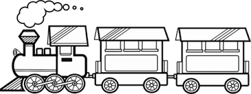 Click To See Printable Version Of Train With Two Carriages Coloring Page