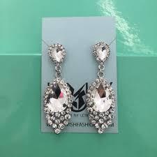 64 jewelry clear stone earrings pageant prom wedding