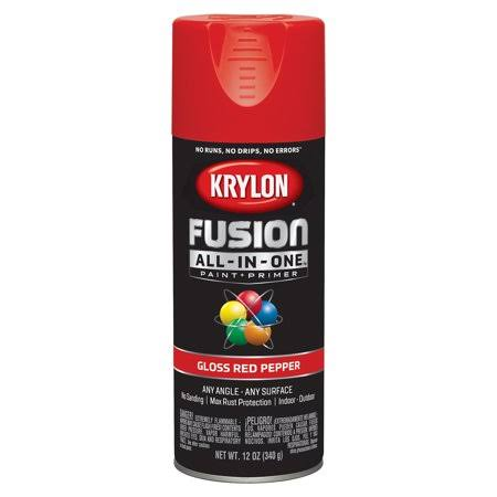 Krylon K02720007 Fusion All-in-One Spray Paint, Red Pepper
