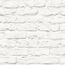 900x900 Contemporary Faux Brick Industrial Rustic White Home Wallpaper R3704