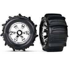100 Truck Paddle Tires Traxxas Geode Chrome Wheels 5672 Dollar Hobbyz