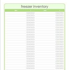 Meal Planning Templates Freezer Inventory Dinner Planner Template Printable