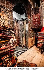magasin de tapis banques de photographies de magasin souk rue marocain tapis