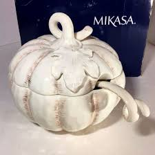 Pumpkin Soup Tureen And Bowls by 3 Piece Mikasa Countryside Harvest Ivory Pumpkin Soup Tureen Bowl