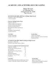 College Senior Resume