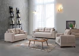 sofa garnitur mit stauraum beige okyanus 3 2 1