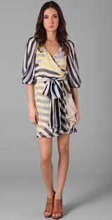 diane von furstenberg striped ignacia wrap dress shopbop