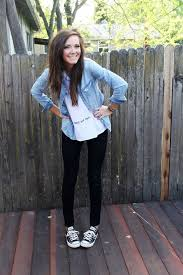 Black Converse With Jeans 4