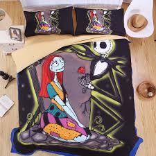 the nightmare before christmas sheet set 3d printed bedding jack
