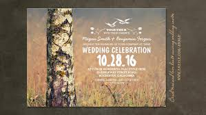 Birch Tree Rustic Country Wooden Heart Wedding Invite