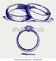 Sketch pencil Wedding rings