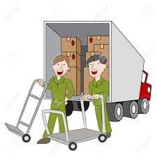 Employees Of A Moving Company With Their Truck. Royalty Free ... Clipart Of A Grayscale Moving Van Or Big Right Truck Royalty Free Pickup At Getdrawingscom For Personal Use Drawing Trucks 74 New Cliparts Download Best On Were Images Download Car With Fniture Concept Moving Relocation Retro Design Best 15 Truck Stock Vector Illustration Auto Business 46018495 28586 Stock Vector And