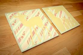 Diy Washi Tape Canvas Art Crafts