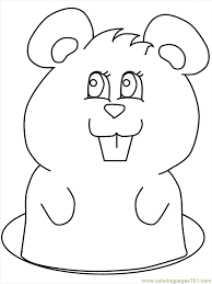 Easy Prairie Dog Coloring Page