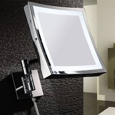 large makeup mirror with lights bathroom square wall mounted