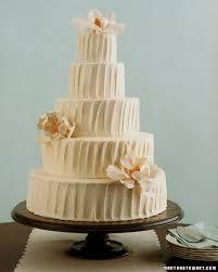 Cream Colored Rustic Buttercream Wedding Cake
