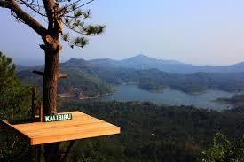 Wisata Kalibiru Kerennya Berfoto Di Ketinggian Pepohonan