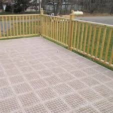 precautions for installing deck tiles wood decks