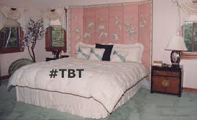 TBT 1980s Bedroom In Peach And Green Is Out Of Style