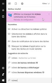 raccourci bureau disparu windows 10 mes icônes ont disparu médiaforma