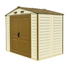 8x6 Wood Storage Shed by Duramax 8x6 Storeall Vinyl Shed With Foundation 30115 Free
