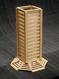 A Great Popsicle Stick Lamp It Comes Complete With Glue And Light Fitting